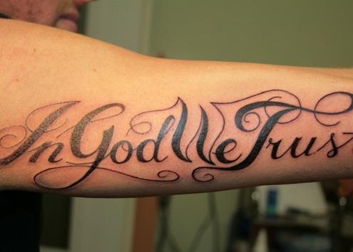 Tattoos of In God We Trust