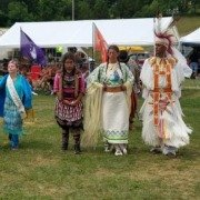 Native American Pow Wow Dancing in Circle 2017