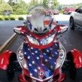 Patriotic Motorcycle at The Ride Home